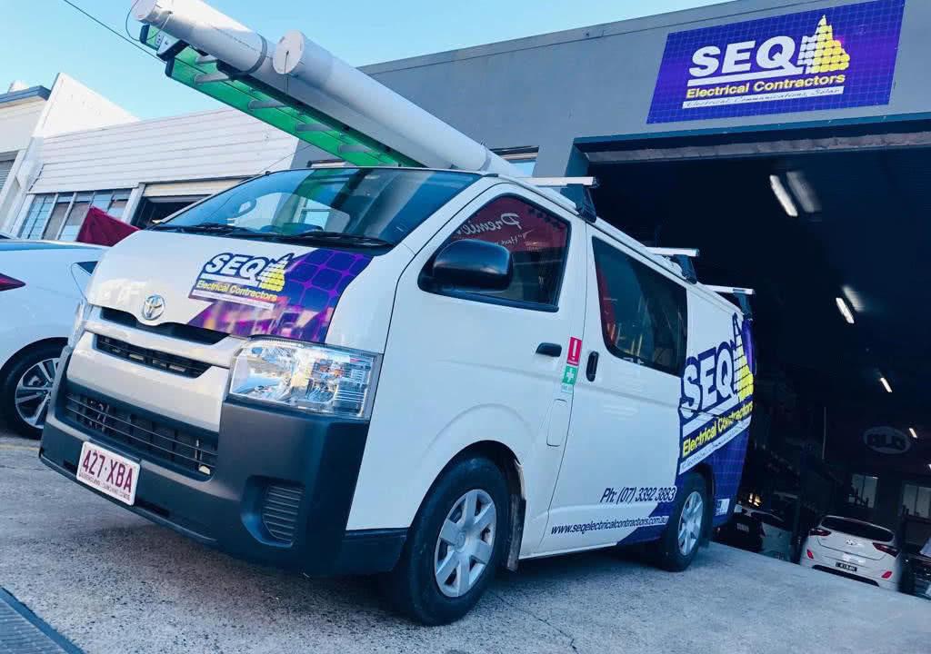 South East Queensland Electrical Contractors van & depot